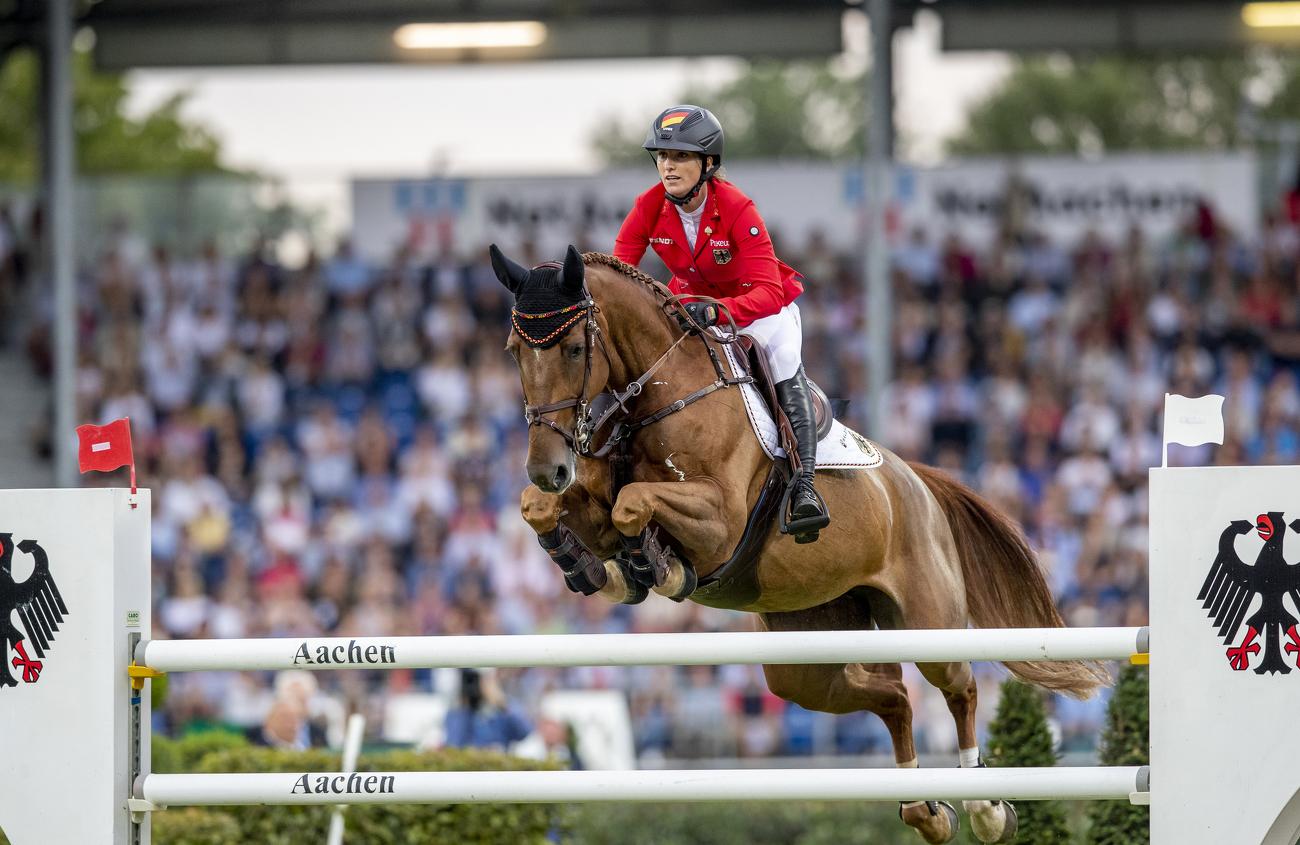 Deutsche Weltmeisterin im Springreiten Simone Blum mit Pferd DSP Alice