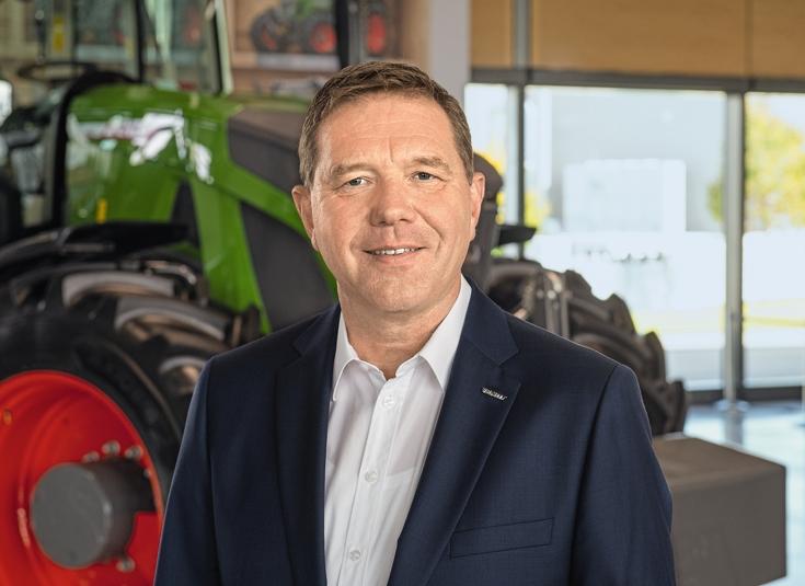 Christoph Gröblinghoff, Vorsitzender der Geschäftsführung Fendt vor Fendt Traktor
