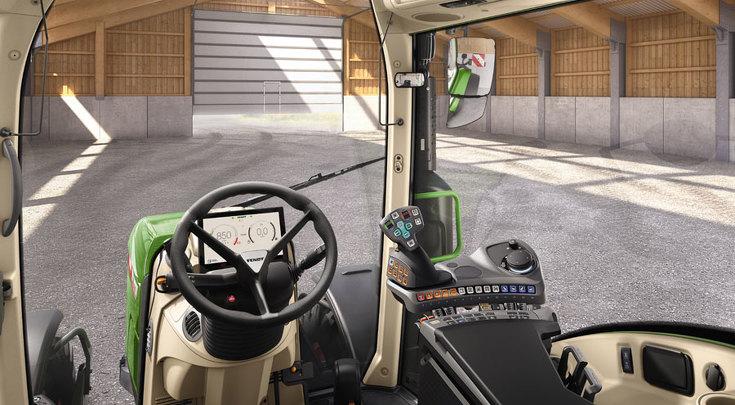 Variante de configuración Power Setting 1 vista desde el asiento del conductor.