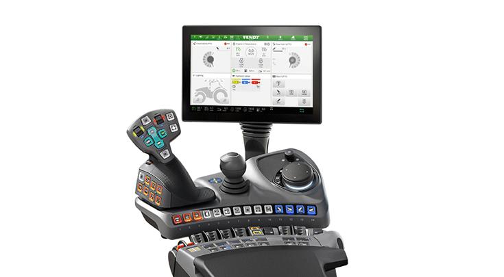 Fendt 1000 Varion Profi Setting 1 jossa on joystick
