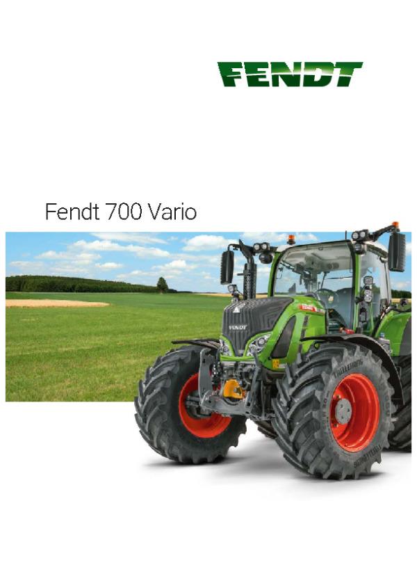FENDT 339 FENDT 700 Vario Traktoren Prospekt von 01//2018