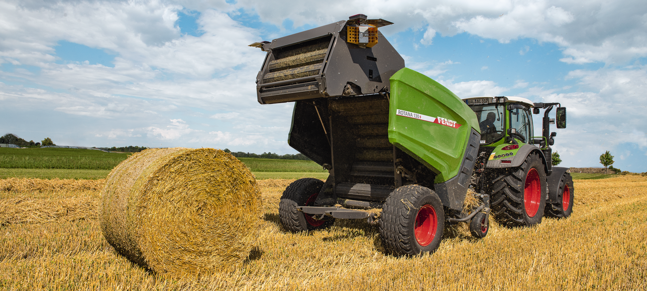 Fendt Rotana fixed chamber round balers - Binding & Controls - Fendt