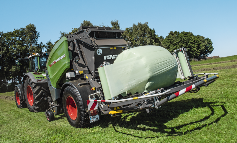 Fendt variable round balers - Wrapping table & Delivery - Fendt