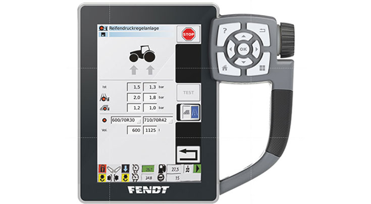 Varioterminal, used to control the tyre pressure at the touch of a button, even while driving.