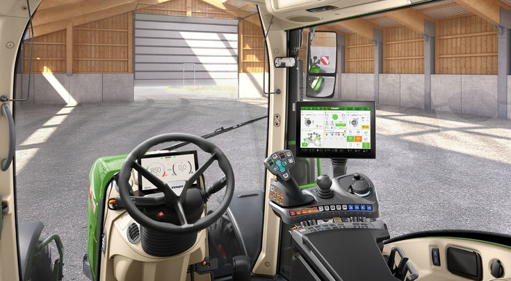 Profi Plus Setting 1 configuration variant as seen from the driver's seat.