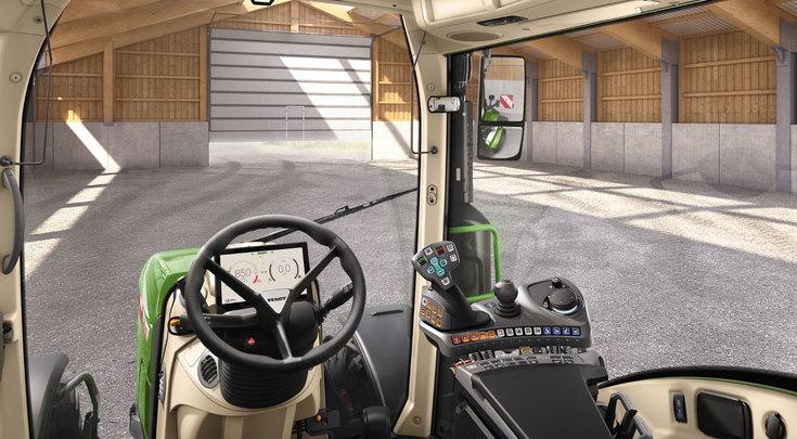 Variante di configurazione Profi Setting 1 vista dalla postazione di guida.