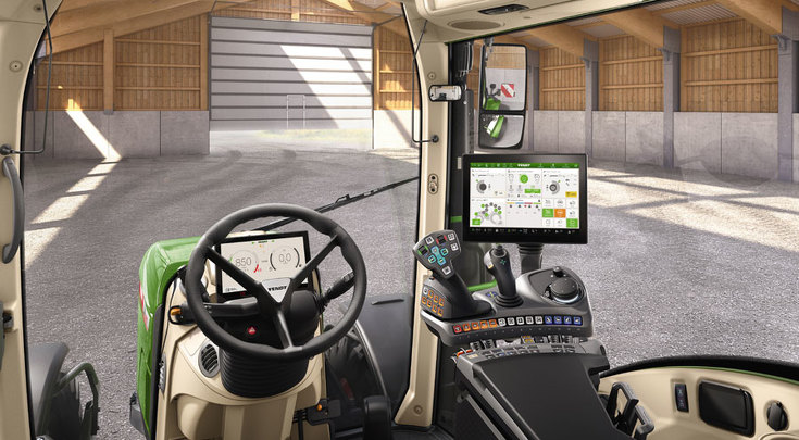 Variante di configurazione Profi Plus Setting 2 vista dalla postazione di guida.