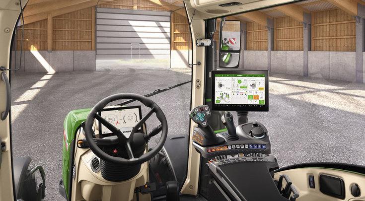 Variante di configurazione Profi Setting 2 vista dalla postazione di guida.