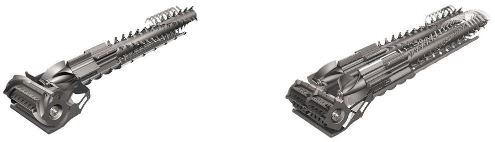 Den enkle og dobbelte Helix-rotoren på Fendt IDEAL.