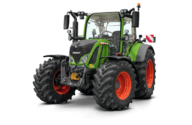 The Fendt 500 Vario as a cropped image.