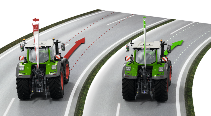 Two Fendt 900 Vario showing the Fendt Stability Control.